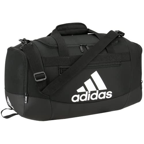 Adidas Defender 4 - Borsone piccolo, taglia unica, colore: Nero/Bianco