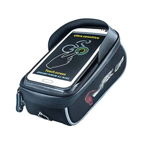 Huiyue UP bolso de la bicicleta Cesta de bicicleta de gran capacidad a prueba de lluvia frontal del asiento Bolsa for MTB pantalla táctil del teléfono móvil bolsa impermeable bolsa de montar a caballo