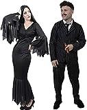 ILOVEFANCYDRESS - Travestimento gotico per Halloween per coppia, taglie: XS-XXL, motivo: personaggi di film