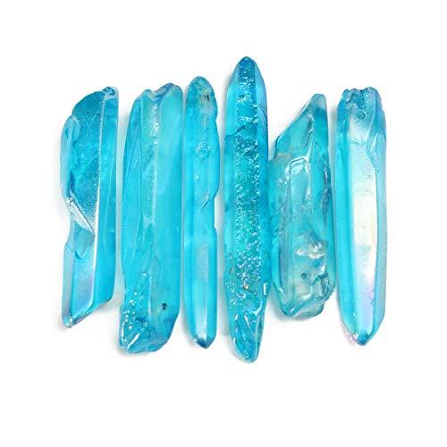TOPWA Samen, sehr kraftvoll und selten, natürliches blaues Aura, Lemurian-Samen, Quarzkristall, 5 Stück