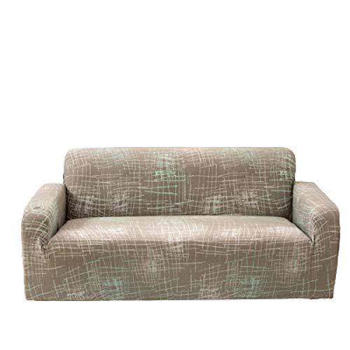 Funda de sofá con Todo Incluido, Moderno, Estampado, elástico, Protector de Muebles para sofá, Funda de sofá seccional, Fundas de sofá en Forma de L para sofá de 3 Cojines,Color 2,3 Seater 190-230cm