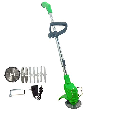 NICCOO 12V Cordless String Trimmer/Edger, Handheld Trimmer, Grass Shear Electric, Lawn Trimmer, Trimmer Cutter, Perfect for Leaves & Debris (3.0Ah Li-Ion Battery and Charger), Green
