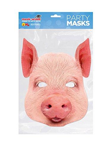 Masque Carton - Cochon - Taille Unique
