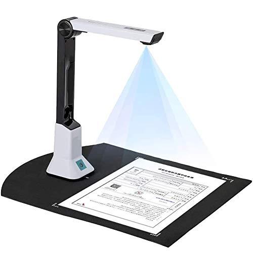 WEP Cámara De Documentos con Grabación De Video De Proyección En Tiempo Real Versatilidad Formato A4, Reconocimiento OCR En Varios Idiomas para Aulas De Oficina