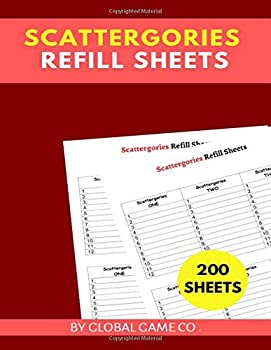 scattergories refill sheets  8.5  x 11   inches 200 score sheets scattergories refill pads scatagories answer pads scattergories score sheets scattergories score pads Gifts.