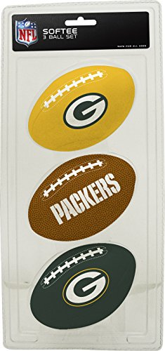 NFL Green Bay Packers Kids Softee Football (Set of 3), Small, Green