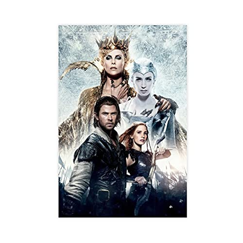Textless Vintage Movie,The Huntsman Winter's War Poster Living Room Sofa Background Wall Decoration Mural Restaurant Wall Painting 12×18inch(30×45cm) Unframe: