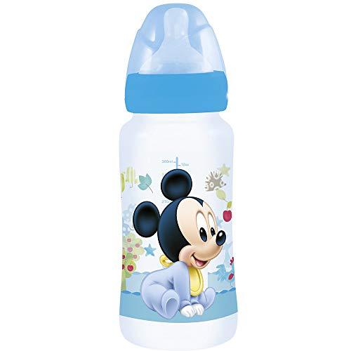 Biberón cuello ancho 360 ml tetina silicona 3 posiciones de Mickey Mouse (12/72)