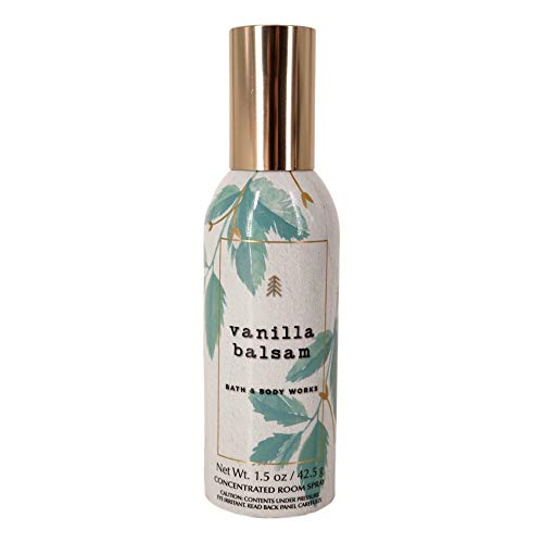 Bath and Body Works Vanilla Balsam Concentrated Room Spray 1.5 Ounce (2019 Edition)