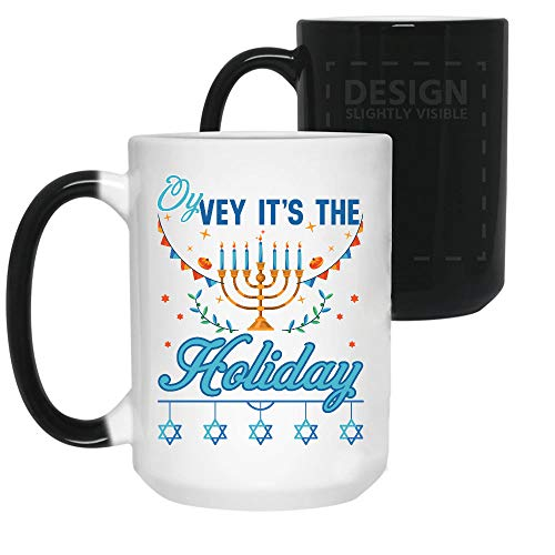 KEER Oy Vey Its The Holiday Hanukkah Color Changing Coffee, Mug