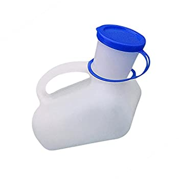 Urinoir portable pour homme et femme - 1000 ml - Avec poignée de transport - Pour voyage, camping, voyage, voyage - Pour hommes/femmes/enfants