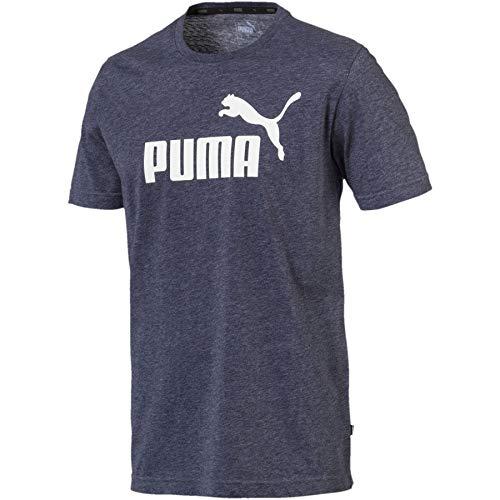 Puma Men's Regular fit T-Shirt (85241906_L_Blue_Peacoat Heather L)