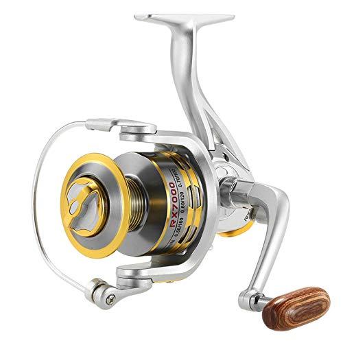 Belleashy Carrete de pesca 12 BB Spinning Pesca Carrete 5.1:1 Relación de engranaje Carrete de pesca para río, lago, mar pesca para mar pesca (tamaño: tamaño libre; color: #5)