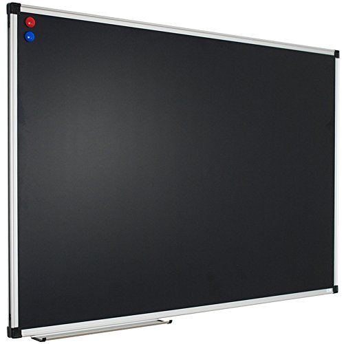XBoard 48 x 36 Inch Magnetic Framed Chalkboard, Wall Mounted Black Bulletin Board with 2 Magnets