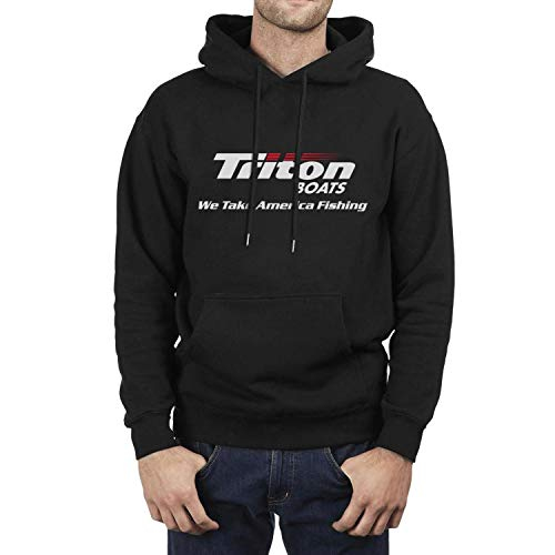 Casual Sweaters Men's Long Sleeve Unique Triton-Boats- we Logo Wool Warm Sports Pullover Hoodies Black