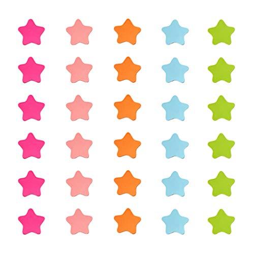 Toyvian 120 unidades de imanes de estrella para nevera, imanes decorativos para nevera, pegatinas decorativas para nevera, regalos, 4 cm