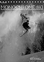 Monochrome Ski (Tischkalender 2022 DIN A5 hoch): Verschiedene Skimotive von meinen Reisen. Different b/w images of my skiing ventures (Monatskalender, 14 Seiten )
