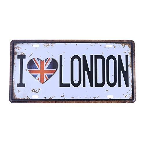 vosarea póster de metal Placa de Hojalata Vintage para Bar Cafetería PUB Placa de metal matrícula de pared decoración de Arte (los Collar Londres)