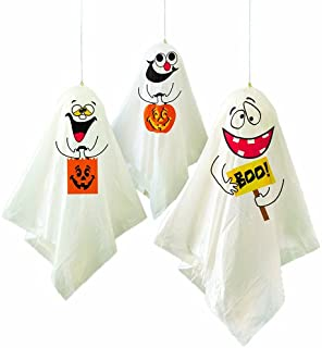 comprar comparacion Unique Party - Decoraciones Colgantes de Fantasmas de Halloween - Paquete de 3 (88048)