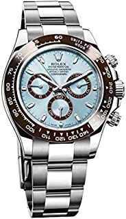 Time Machine Rol Ex Automatic Chronograph Luxury Watch for Men Blue Dial Silver Tone Watch at Amazing Price