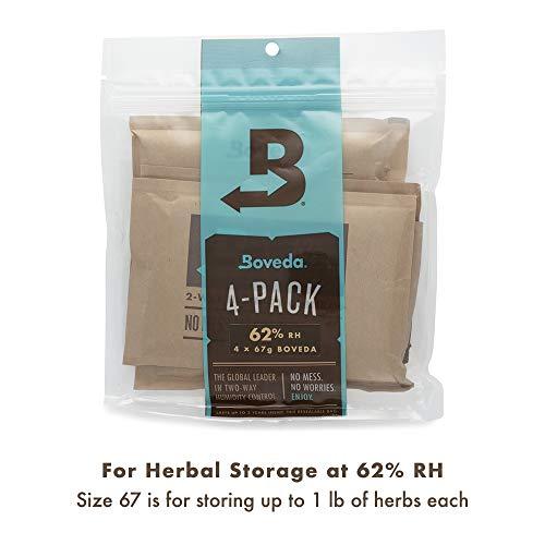 Boveda 62% RH (67 Grams) , 4er pack - by Boveda