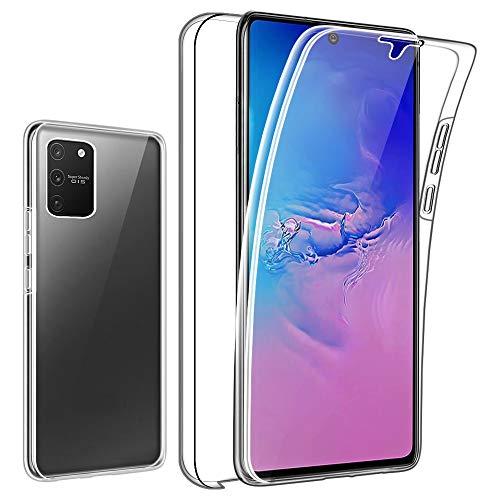 SDTEK Custodia per Samsung Galaxy S10 Lite 2020 Protezione Frontale Posteriore Tutto Corpo 360 Cover Trasparente Trasparente