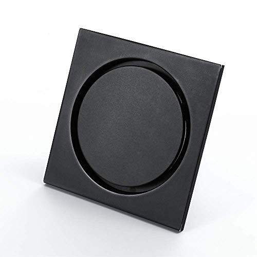 Badezimmer Bodenablauf, Schwarz Messing Bodenablauf Deodorant Core Balkon Dusche Toilette Bodenablauf, B.