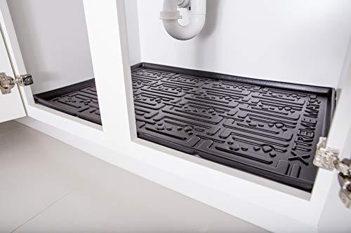 Xtreme Mats Under Sink Kitchen Cabinet Mat, 30 3/8 x 21 1/2, Black