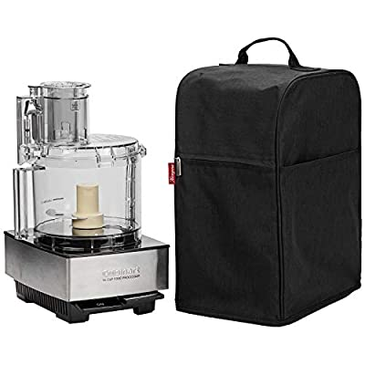 NICOGENA Food Processor Dust Cover with Accessory Pockets Compatible with Cuisinart Custom 11-14 Cup, Black (Dust Cover Only?