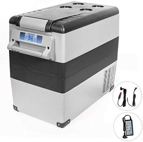XUHRA Auto Kühlschrank Gefrierschrank Cooler Mini-Kühlschrank 55L Baukompressor 12 / 24V Auto-Kühlraum für Reisen, Camping, Angeln, Außen, Auto