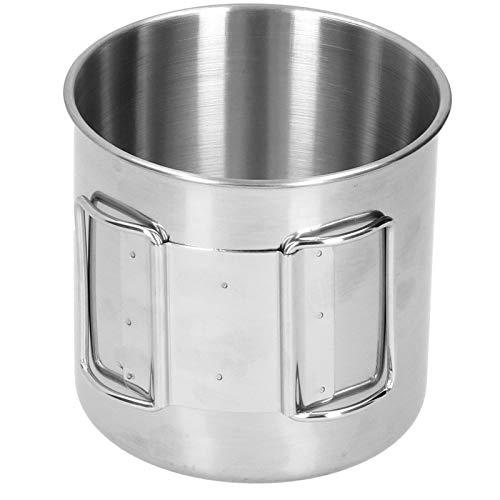 Vaso para beber, vaso de acero inoxidable duradero para mochileros