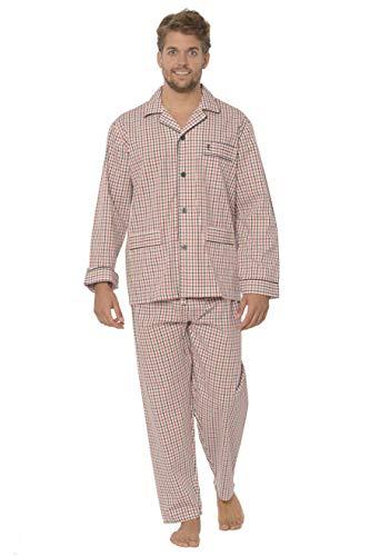 El Búho Nocturno Pijama de Caballero de Manga Larga clá