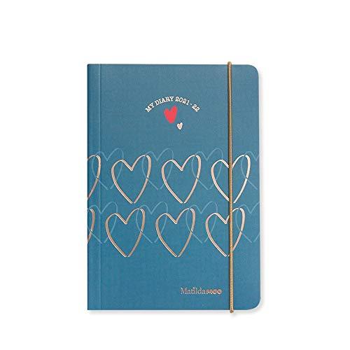 Matilda MOO Agenda 2021-22 Flex Cover A6 Daily Mid Year - Julio - Azul