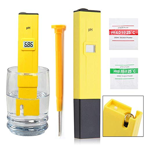 CBOX pH Test Meter ± 0.1pH High Accuracy with 0.00-14.00ph Measure Range for Drinking Water, Hydroponics, Aquariums, Swimming Pools. (Manual pH Meter)