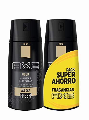 AXE Desodorante Gold Duplo Ahorro - 2 Paquetes de 2 x 150 ml: Total: 600 ml