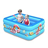 LBWNB Piscina Familiar Piscina Hinchable Infantil Square Pool,120CM Two Layers
