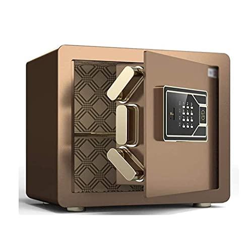 Caja de seguridad, caja fuerte de gabinete digital grande con código de estante extraíble y llave de anulación de emergencia, alarma incorporada montada en la pared / piso para joyas, dinero, documen