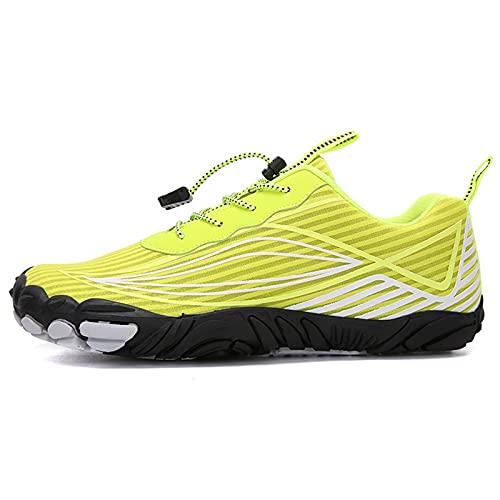 ZHBW Mujeres Ciclismo Zapatos Hombres Bicicleta Carreras Deporte De Montaña Zapatillas para Exteriores (Color : Yellow, Shoe Size : 38 EU)