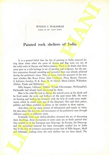 Painted rock shelters of India.