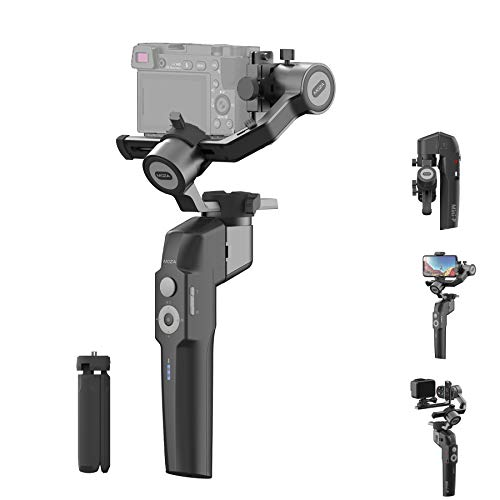MOZA Mini P Gimbal Stabilizzatore Handheld 3 Assi Gimbal 4-in-1 per Mirrorless e Fotocamera Compatta per iPhone Android Smartphone per Action Camera GoPro fino a 1,9 kg Payload