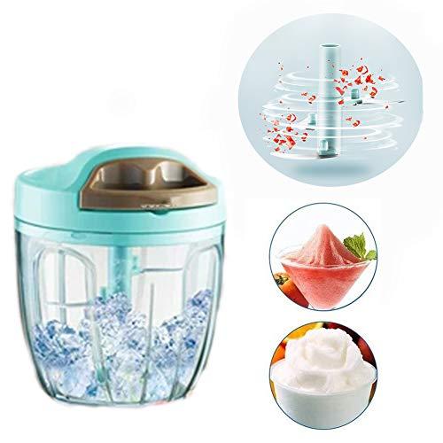 ZW Manuelle Küchenmaschine Ice Cube Crusher, ideal für Cocktails, Barbotines und Eiswürfel, manuell, Ice Shaver Crusher, Schnee