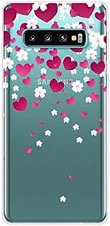 Herbests Kompatybilne z Samsung Galaxy S10, przezroczyste etui z motywem kryształu TPU, miękkie i przezroczyste etui ochro...