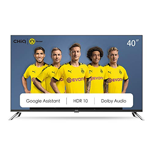 CHiQ L40H7A, 40 pollici (100 cm), Android 9.0, Smart TV, FHD, WiFi, Bluetooth, Google Assistant, Netflix, Prime Video, HDMI, USB