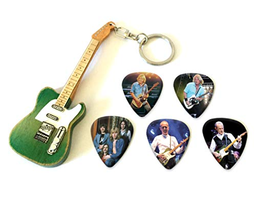 We Love Guitars Francis Rossi Status Quo Mini-Gitarren-Keyring & 5 X Plektren