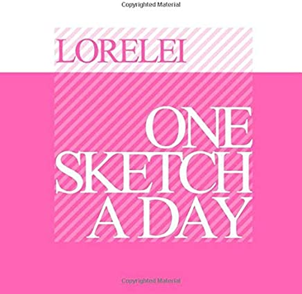Lorelei: Personalized pink sketchbook with name: One sketch a day for 120 days challenge