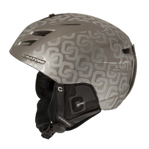 Skihelm, Snowboardhelm Cratoni Reflex C-allover silver matt