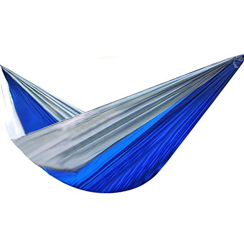 HUANXI PortableDoubleDouble Hammock with Storage Bag + Strap,300kg Load Capacity (320x200cm) Blue Survival Tent for Tree Tent, Outdoors