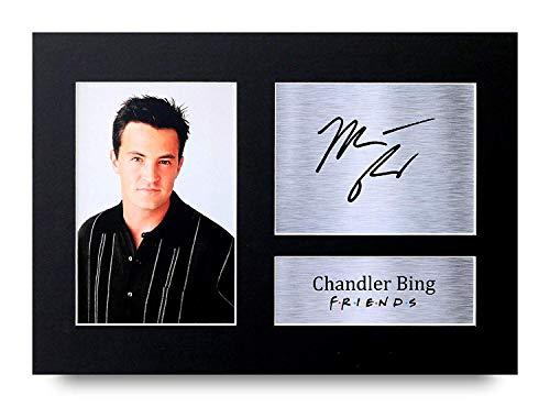 HWC Trading Chandler Bing A4 Ungerahmt Signiert Gedruckt Autogramme Bild Druck-Fotoanzeige Geschenk Für Friends Matthew Perry Tv-Show-Fans