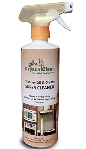 CrystalClear | Kitchen Chimney | Cleaner Hob | Oil | Grease | Gas Top | Microwave Oven | OTG | Grill | Kitchen Exhausts & other oily Surface Cleaner 500 ML