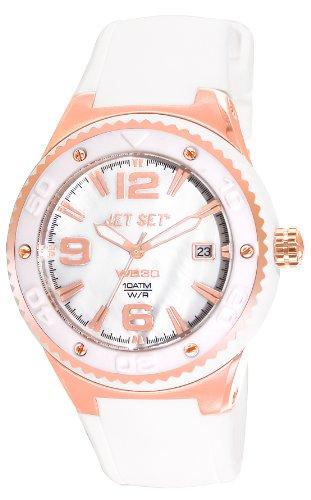 Jet Set Damen-Armbanduhr J53458-161 Wb30 Analog Kautschuk Weiß